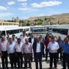 DARENDELİ SERVİS ŞOFÖRLERİ, 'S' PLAKA UYGULAMASINI PROTESTO ETTİ