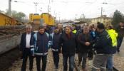 MİLLETVEKİLİ FENDOĞLU HEKİMHAN'DAKİ TREN KAZASINI İNCELEDİ