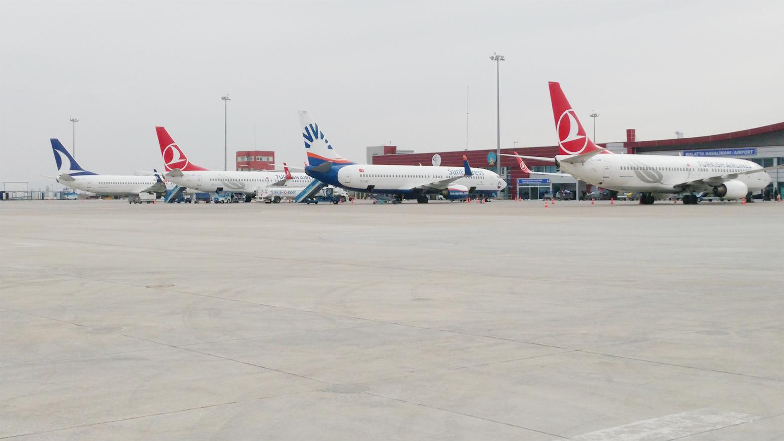 MART AYINDA MALATYA HAVALİMANI'NDA 67.108 YOLCUYA HİZMET VERİLDİ