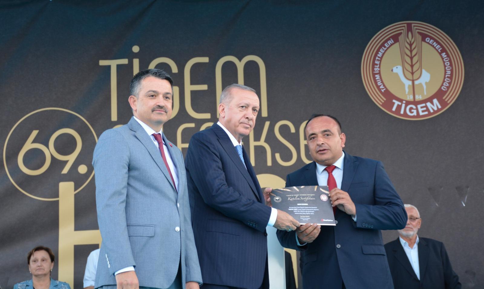 SULTANSUYU TİGEM'E ZİRAAT ÖZEL ÖDÜLÜ